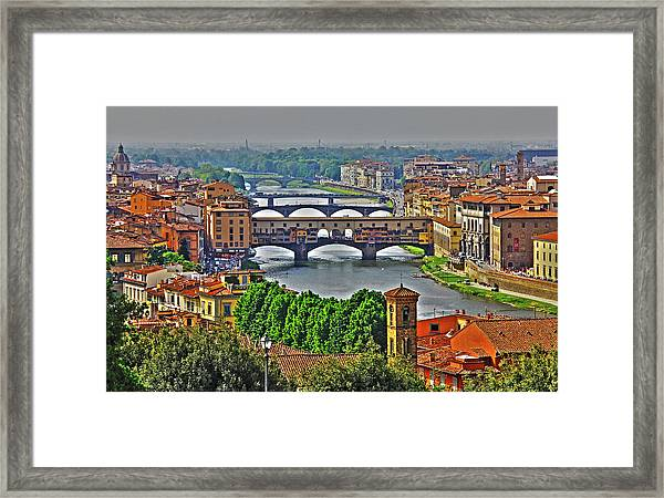 Florence, Italy - Ponte Vecchio Framed Print