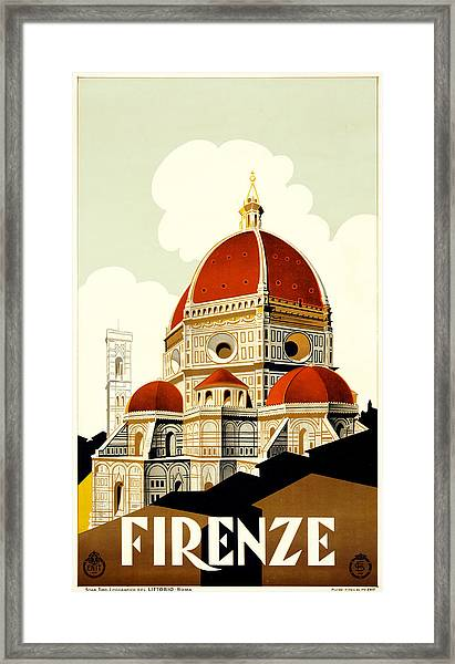 Florence Travel Poster Framed Print