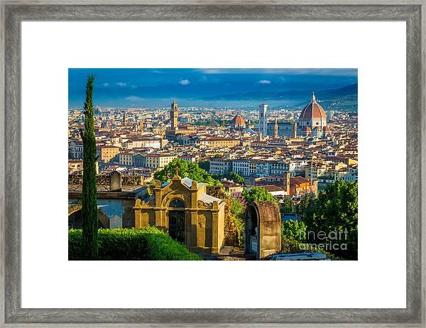 Florentine Vista Framed Print