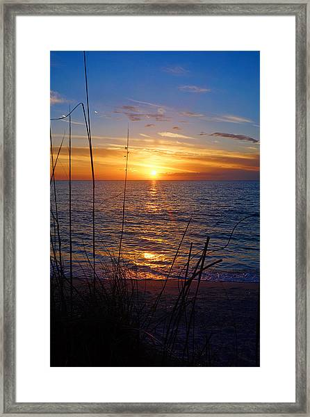 Florida Gulf Coast Sunset Framed Print