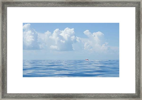 Florida Keys Clouds And Ocean Framed Print