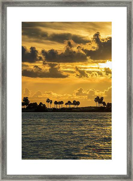 Florida Sunset-1 Framed Print