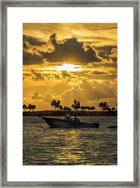 Florida Sunset-2 Framed Print