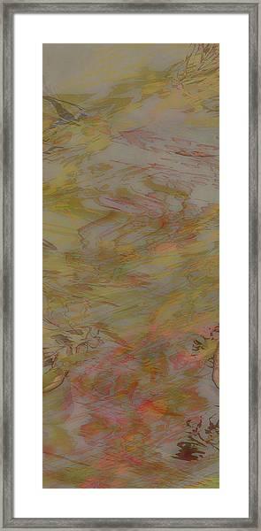 Flow Improvement In The Fog Framed Print