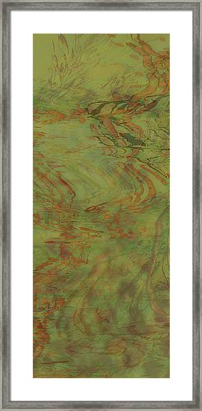 Flow Improvement In The Grass Framed Print