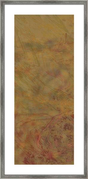 Flow Improvement In The Sand Framed Print