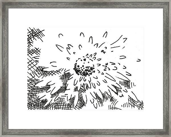 Flower 2 2015 - Aceo Framed Print