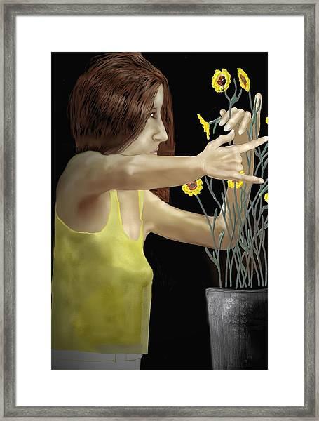 Flower Arranger Framed Print