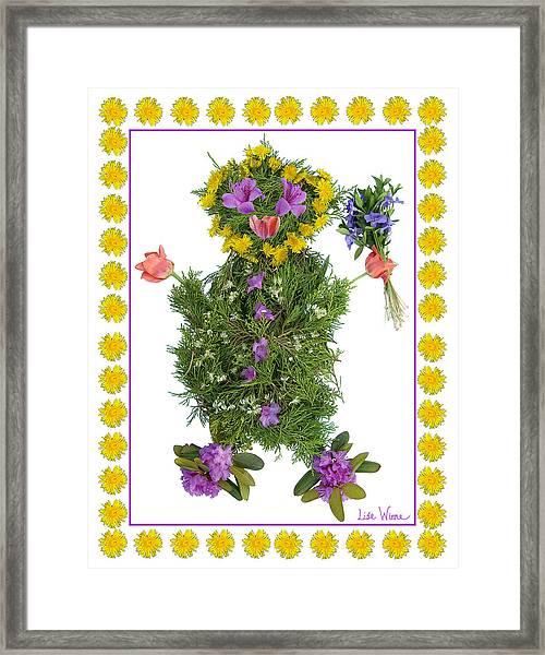 Flower Baby Framed Print