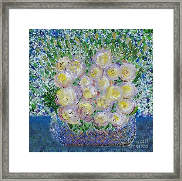 Flower Basket Framed Print