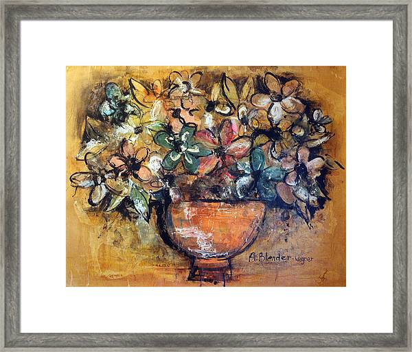 Flower Collage Framed Print