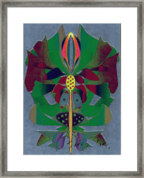 Flower Design Framed Print