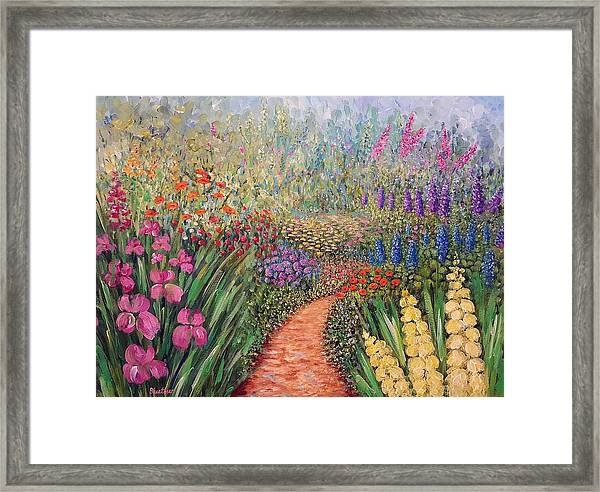 Flower Gar02den  Framed Print
