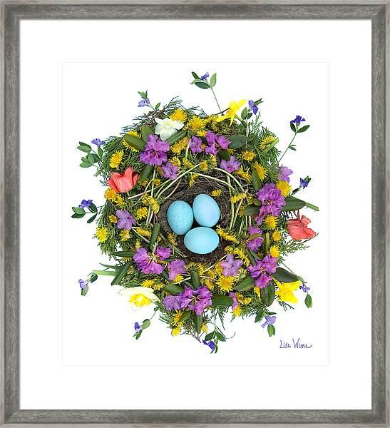 Flower Nest Framed Print