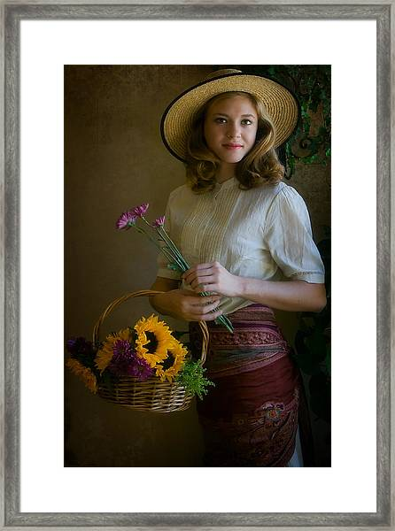 Flower Peddler Framed Print