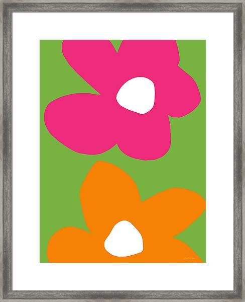 Flower Power 1- Art By Linda Woods Framed Print