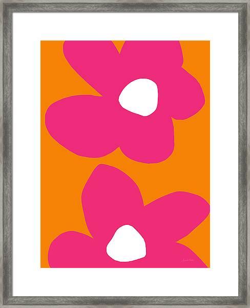 Flower Power 2- Art By Linda Woods Framed Print