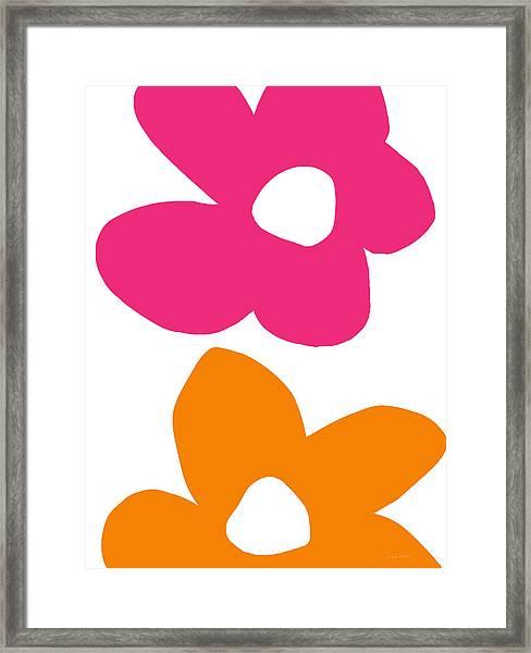 Flower Power 4- Art By Linda Woods Framed Print