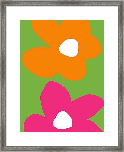 Flower Power 5- Art By Linda Woods Framed Print