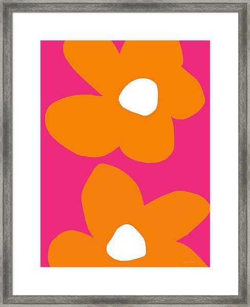 Flower Power 6- Art By Linda Woods Framed Print