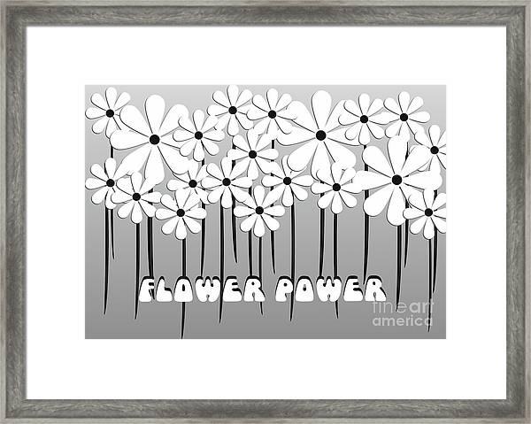 Flower Power - White  Framed Print
