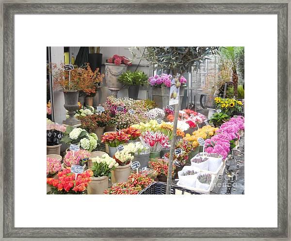 Flower Shop Amsterdam Framed Print