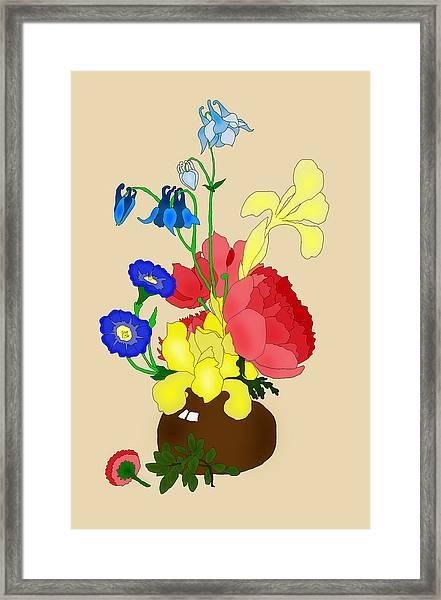 Floral Still Life 1674 Framed Print