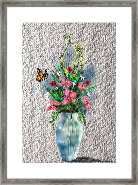 Flower Study Three Framed Print
