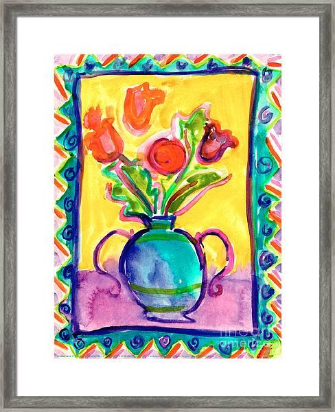 Flower Vase Framed Print