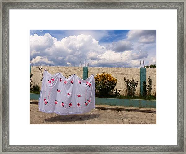 Flowered Sheets Framed Print