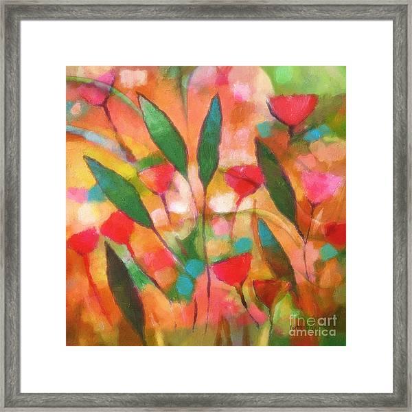 Flowerflow Framed Print