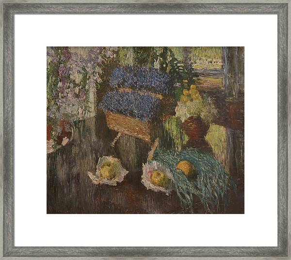 Flowers And Fruits Framed Print by Igor Grabar