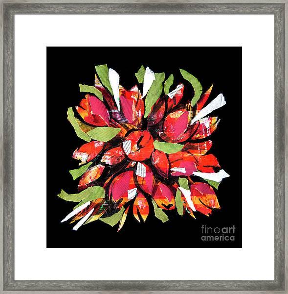 Flowers, Art Collage Framed Print