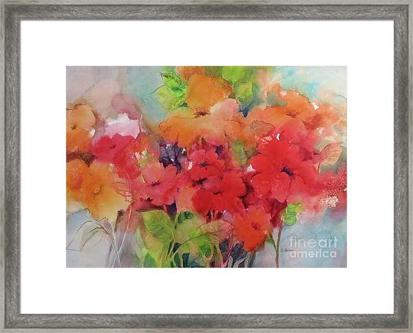 Flowers For Peggy Framed Print