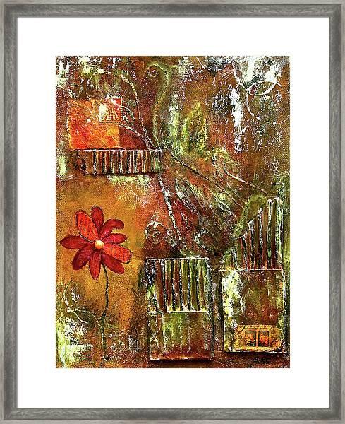 Flowers Grow Anywhere Framed Print