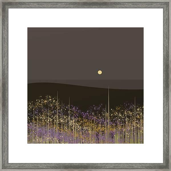 Flowers In The Moonlight Framed Print