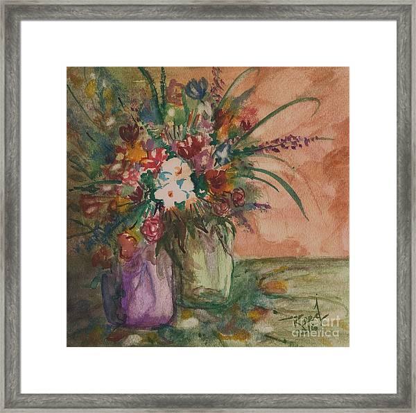Flowers In Vases 2 Framed Print