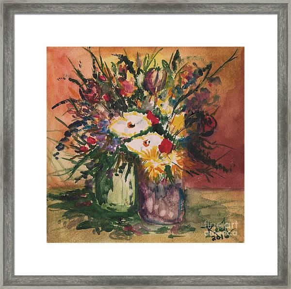 Flowers In Vases Framed Print