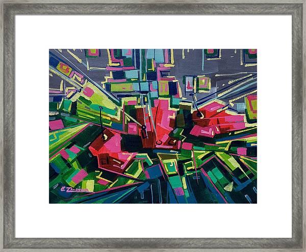 Flowers To Mondrian  Framed Print