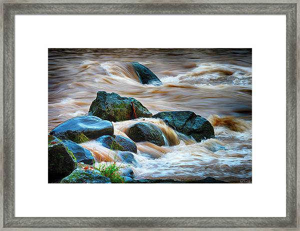 Framed Print featuring the photograph Flowing Amber by Dee Browning