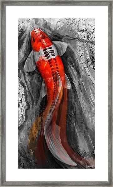 Flowing Koi Framed Print