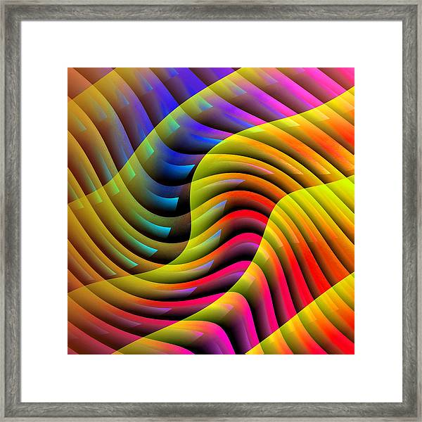 Flowing Paint Framed Print
