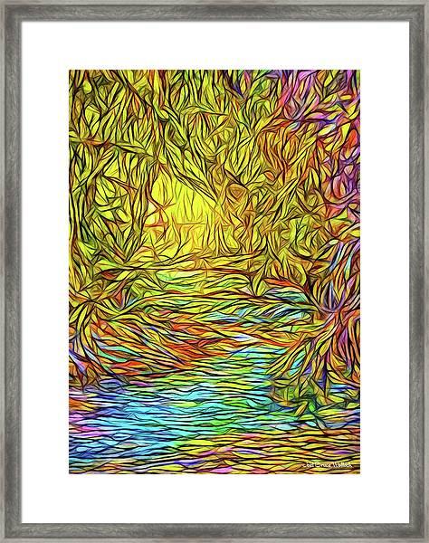 Flowing River Vision Framed Print
