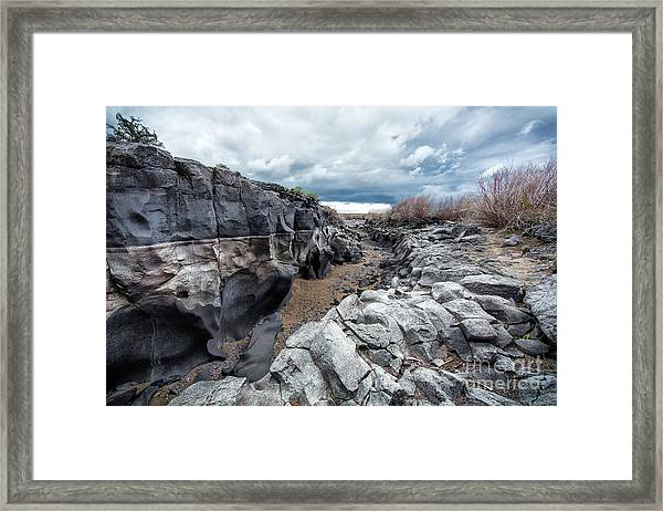 Flowing To The Storm Idaho Journey Landscape Art By Kaylyn Franks Framed Print