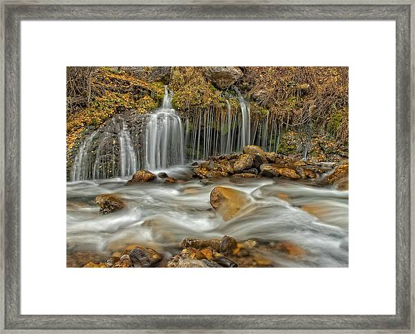 Flowing Water Framed Print
