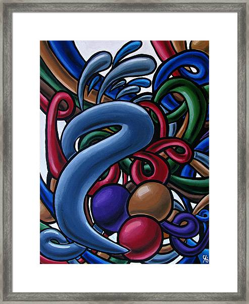 Colorful Abstract Art Painting Chromatic Water Artwork  Framed Print
