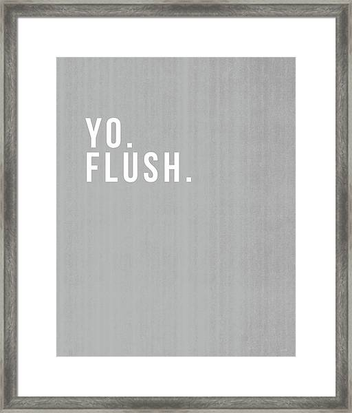 Flush- Art By Linda Woods Framed Print