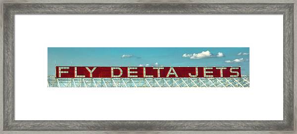 Fly Delta Jets Signage Hartsfield Jackson International Airport Atlanta Georgia Art Framed Print