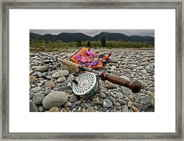 Fly Rod And Streamers Landscape Framed Print