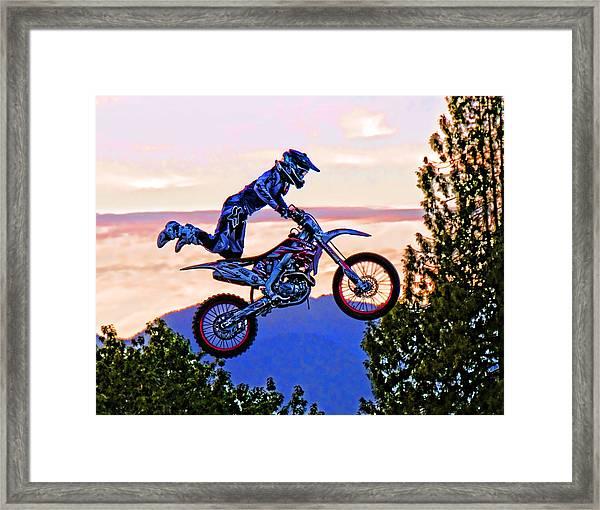 Flying 4 Just Hangin On Framed Print